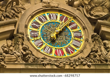 Grand Central Station Clock in Manhattan - stock photo