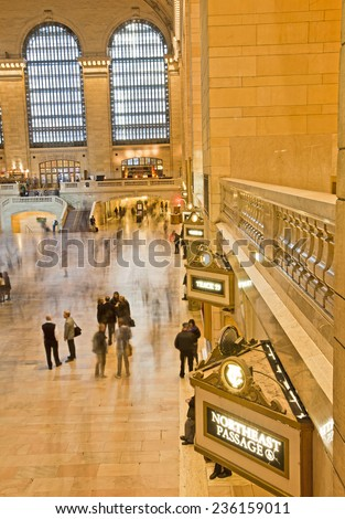 Grand central station long exposure in New York - stock photo