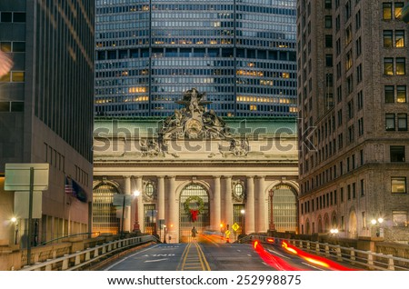 Grand Central Terminal at Night - stock photo