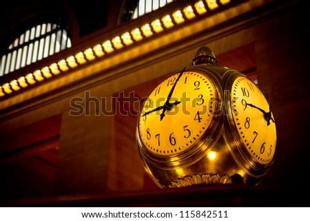 Grand Central Terminal Clock, New York, USA. - stock photo