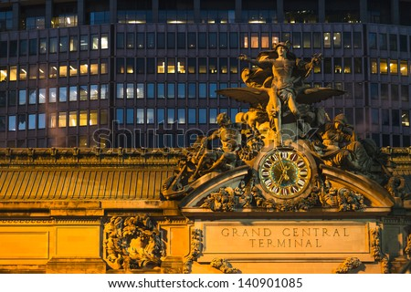 Grand Central Terminal in New York City - stock photo