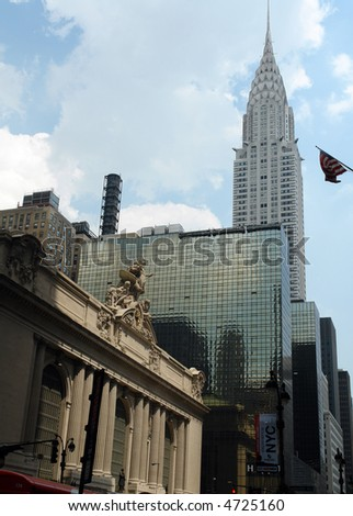 grand central terminal - one of new york city landmarks - stock photo