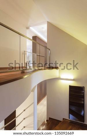 Grand design - Mezzanine, second floor - stock photo
