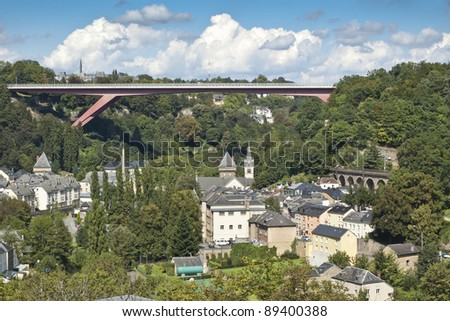Grand Duchess Charlotte Bridge. It is a road bridge in Luxembourg City