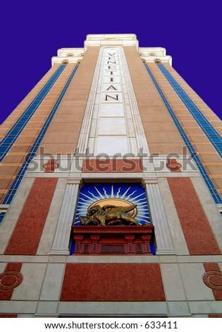 Grand facade of the Venetian Hotel in Las Vegas, Nevada - stock photo