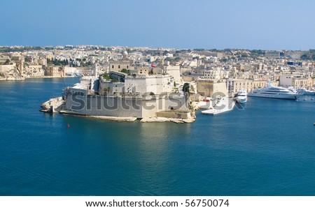 Grand Harbor, Valetta, capital of Malta - stock photo