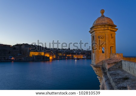 Grand Harbour in the Evening - Malta - stock photo