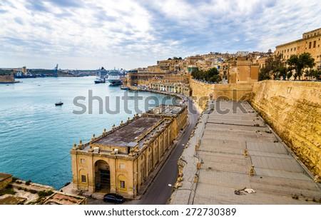 Grand Harbour in Valletta - Malta - stock photo