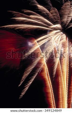 Grand Haven, Mi. Fireworks Display - stock photo