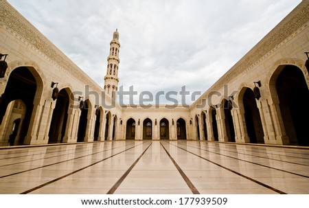 grand mosque - stock photo