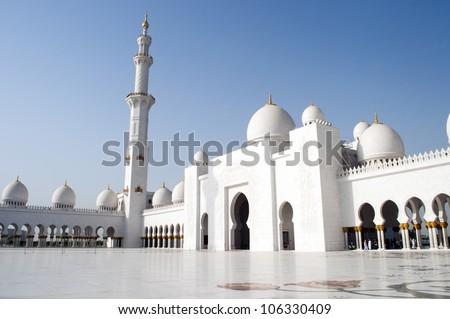 Grand mosque decoration in Abu Dhabi,United Arab Emirates - stock photo