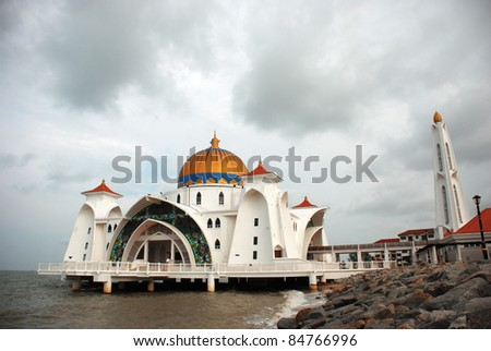 Grand Mosque on beach - stock photo