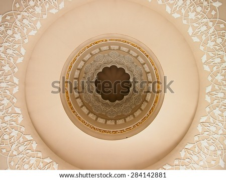 Grand mosque, united arab emirates,interior,islamic art - stock photo