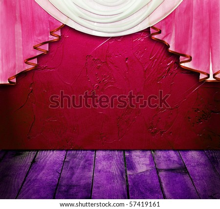 Grand opening showroom with decorative pattern wall - stock photo