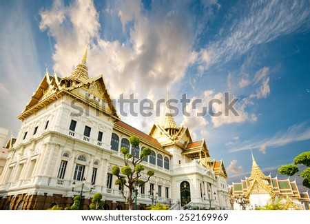 grand palace and Wat Phra Kaew area, Bangkok  - stock photo