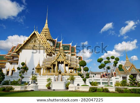 grand palace and Wat Phra Kaew area, Bangkok