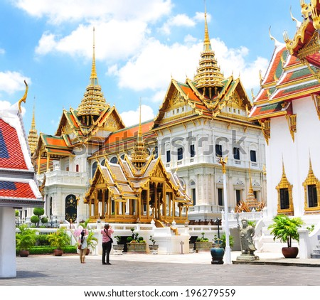 Grand palace bangkok, THAILAND - stock photo
