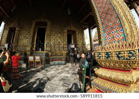 Grand palace Bangkok Thailand february 2017
