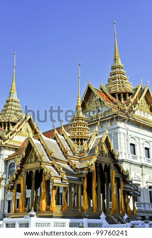 Grand palace bangkok with clear sky, THAILAND - stock photo