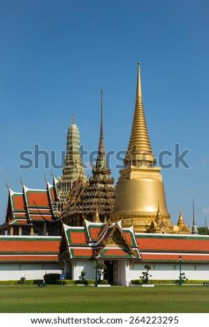 Grand palace in Bangkok, Thailand. - stock photo