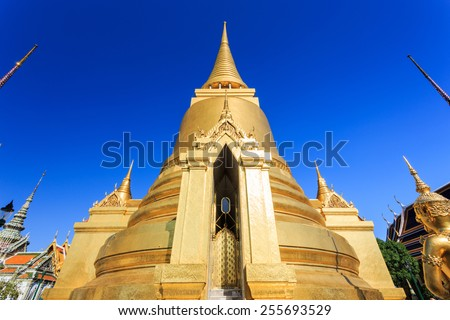 Grand Palace or Temple of the Emerald Buddha, Bangkok, Thailand - stock photo