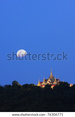 Grand Palace Under Twilight, Southern Thailand - stock photo