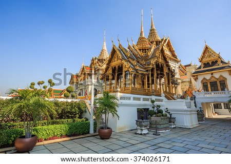 Grand Palace (Wat Phra Kaew) is popular landmark of thailand.
