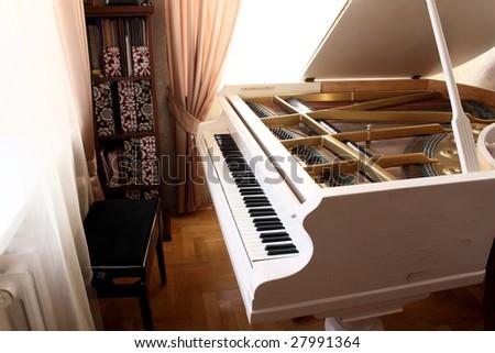 grand piano - stock photo