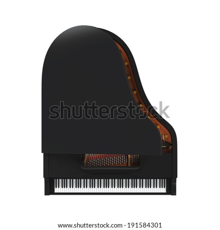 Grand Piano Isolated - stock photo