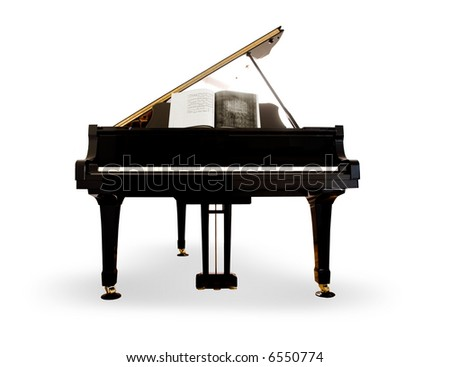 Grand Piano on white background - stock photo