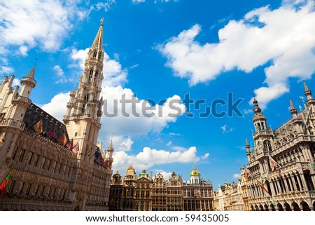 Grand Place in Brussels, Belgium. - stock photo