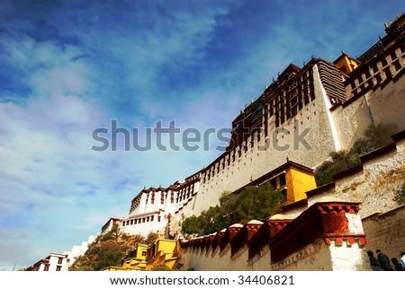 Grand potala palace in Lhasa. Tibet, China. - stock photo