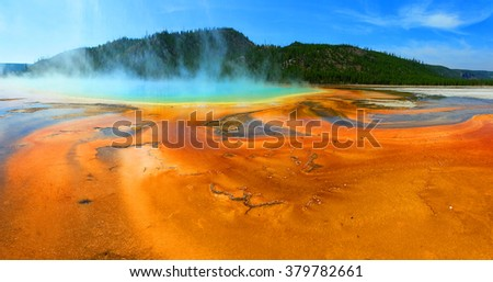 grand prismatic spring - stock photo