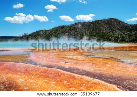 Grand Prismatic Spring at Yellowstone National Park