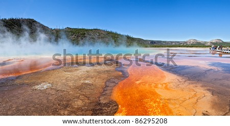 Grand Prismatic Spring in Yellowstone National Park.