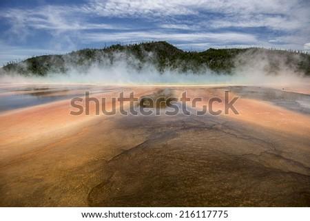 Grand Prismatic Springs - stock photo