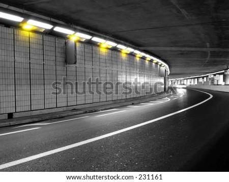 Grand Prix Tunnel - stock photo