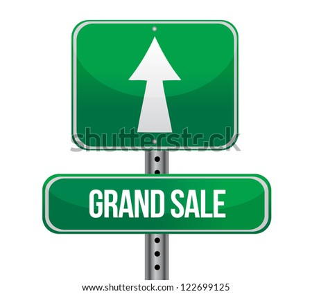 Grand Sale just ahead sign illustration design