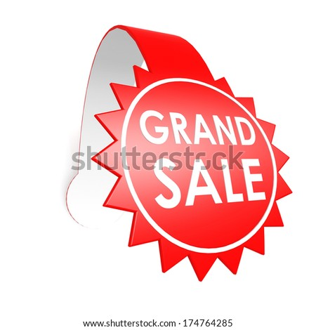 Grand sale star label - stock photo
