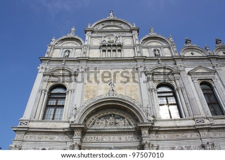 Grand School of St Marco in Venice ( Italy ) - stock photo