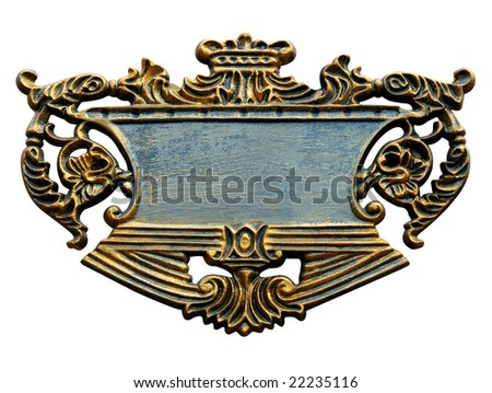 grand signboard isolated - stock photo