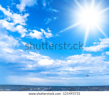 Grand Skyscape Under Sun - stock photo