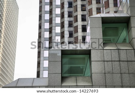 Grand Skyscrapers of Houston, Texas, USA(Release Information: Editorial Use Only. Use of this image in advertising or for promotional purposes is prohibited.) - stock photo