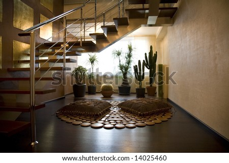 Grand Staircase in a luxury House - stock photo
