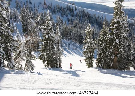 Grand Targhee Ski Resort - stock photo