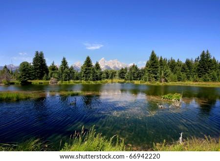 Grand Teton National Park, Jackson, Wyoming - stock photo