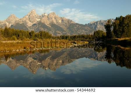 Grand Teton National Park Reflection in Early Morning Light
