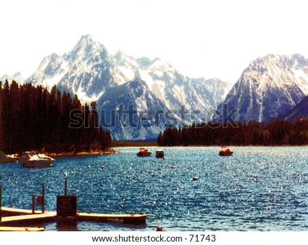 Grand Tetons Mountain Range - stock photo