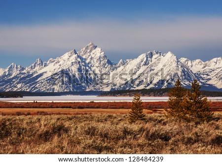 Grand Tetons National Park - stock photo
