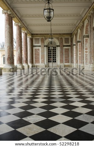 Grand Trianon Hallway - stock photo